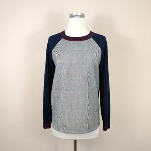 J Crew Glen Plaid Merino Wool Sweater